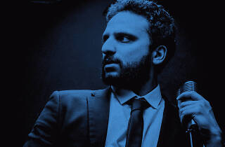 A press shot for UK comedian Nish Kumar