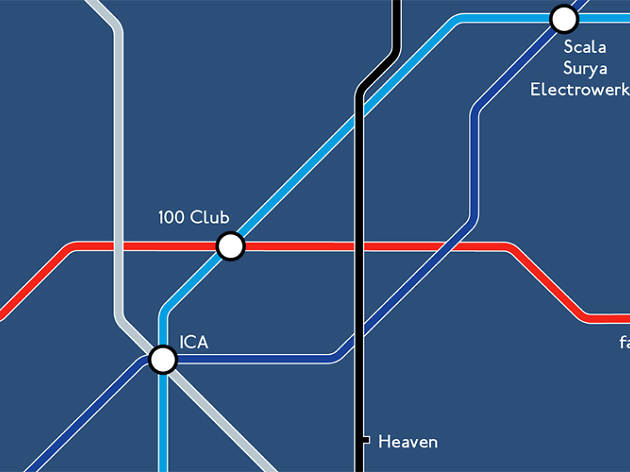 This tube map shows all the clubs we're able to get to now the night tube has launched