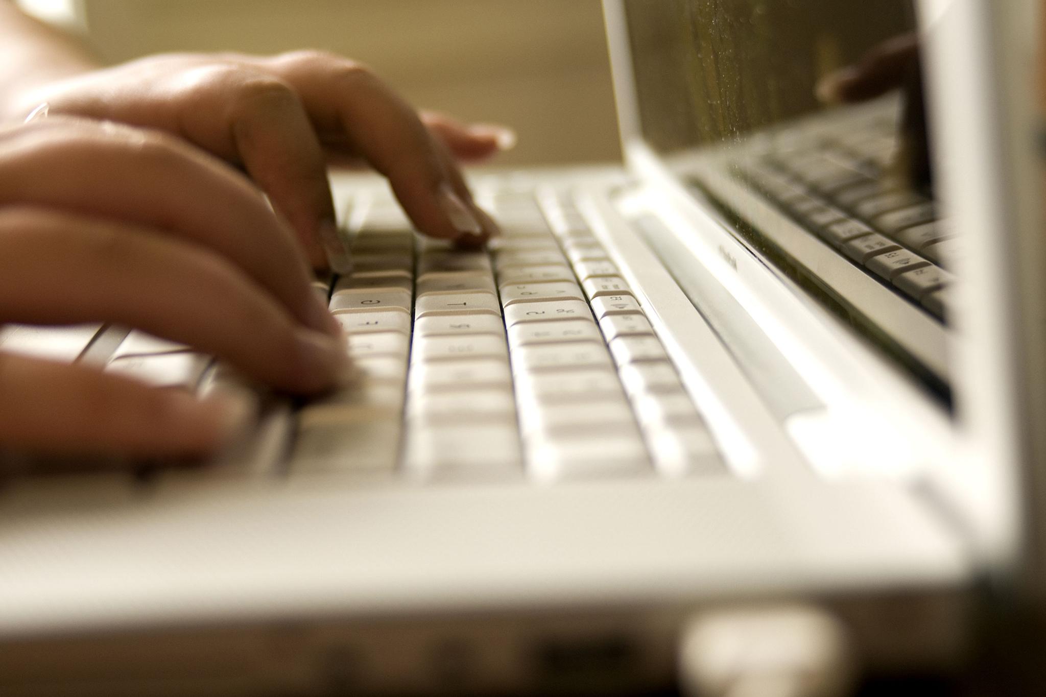 Laptop computer close up