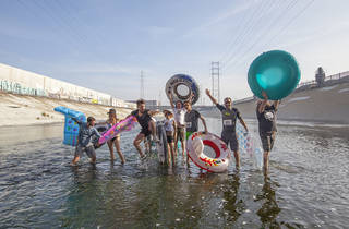 L.A.zy River inner tube race down the LA River
