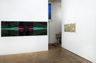 The Commercial Gallery 2016 interior 01 installation view of Clare Milledge - Skara Thynge – Travelling Stock Reserves March 2016 image courtesy The Commercial and photographer credit Jessica Maurer