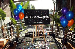 A banner at the 2015 Time Out Melbourne Bar Awards