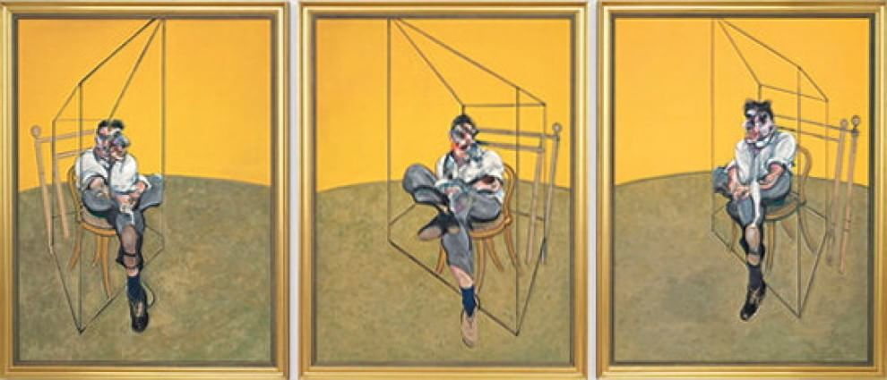 Francis Bacon 'Three Studies of Lucian Freud' (1969, painting)
