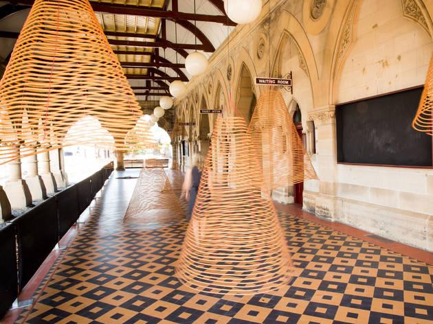 Biennale of Sydney 2016 Mon Mar 14 Mortuary Station Charwei Tsai Spiral Incense Bardo 2016 installation image 01 photograph courtesy BOS 20