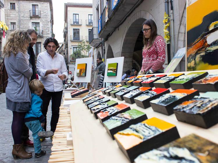 Fira d'artesania i productes artesans alimentaris Plaça Miquel Santaló