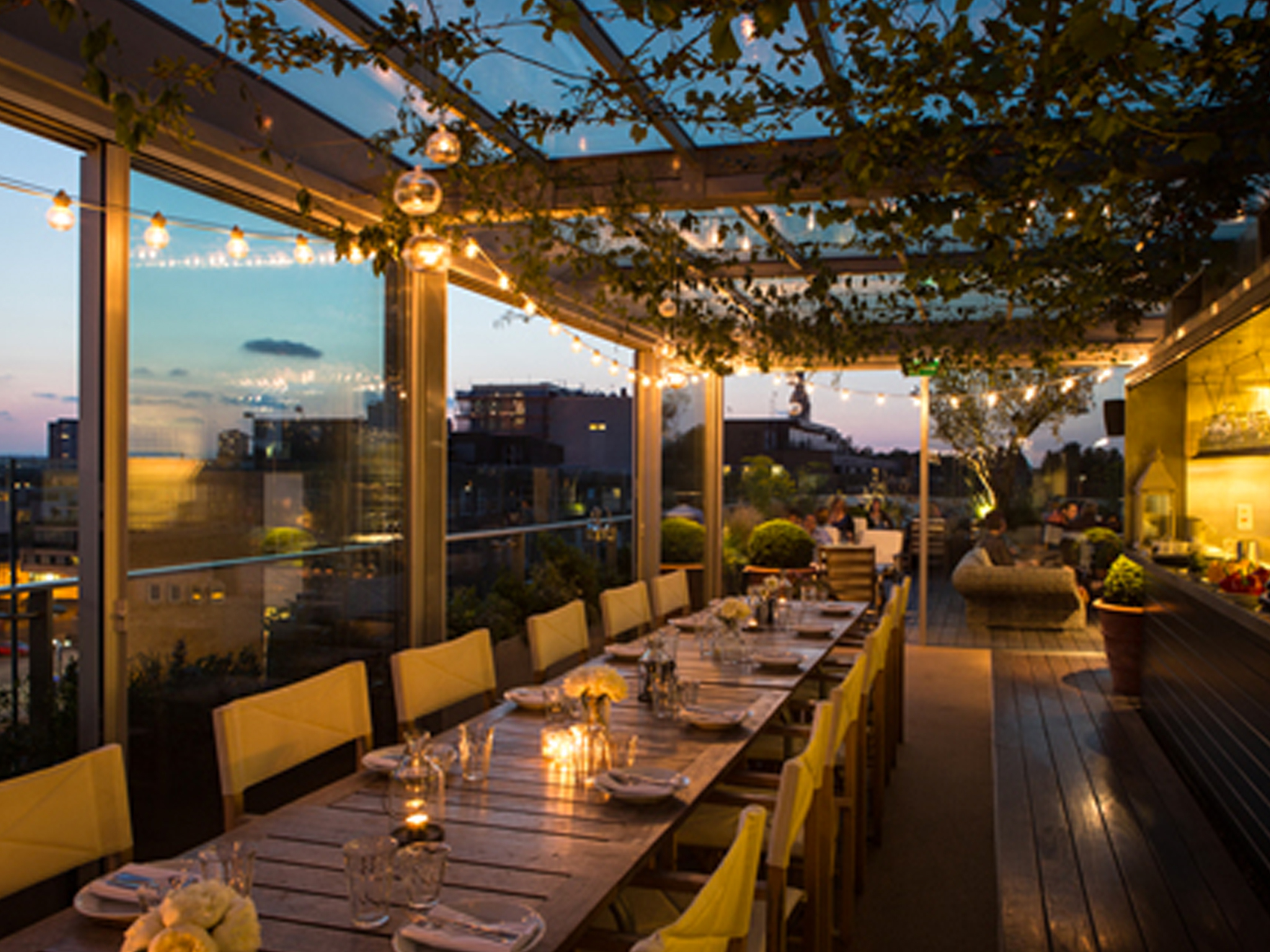 Rooftop restaurants in London
