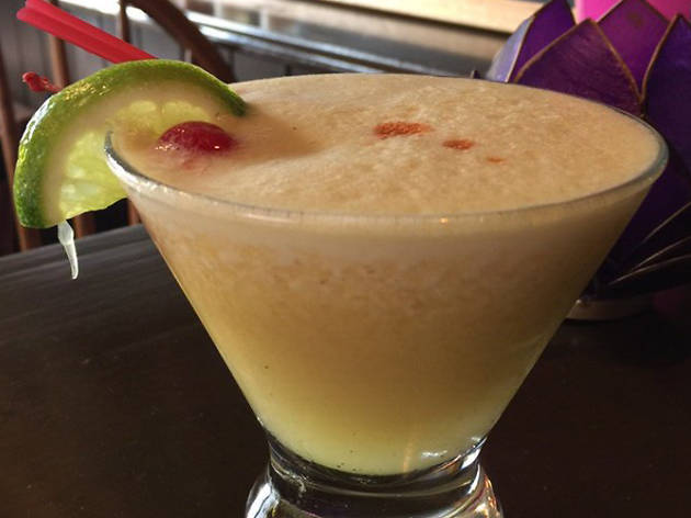 Passion Fruit Pisco Sour at La Coya