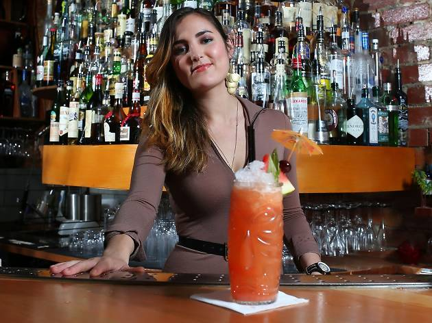 Jungle Boy manager Serena O'Callaghan with her signature cocktail