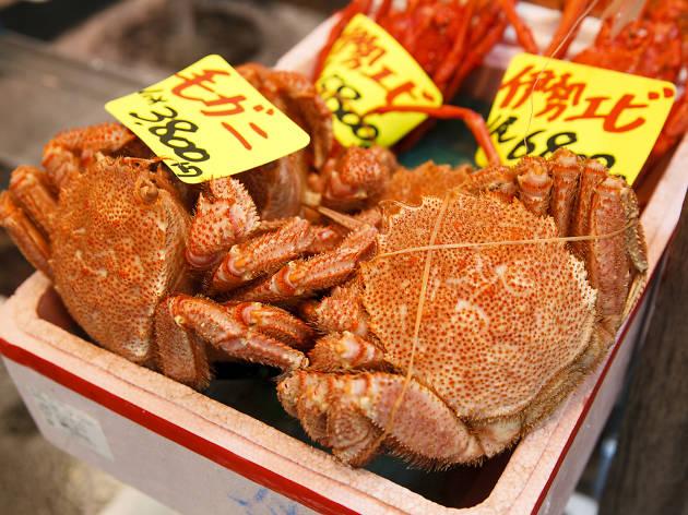 Tsukiji fish market walk