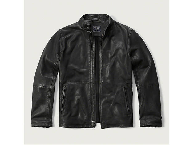 Abercrombie \u0026 Fitch Genuine Leather Moto Jacket, at Abercrombie \u0026 Fitch  locations throughout the city and abercrombie.com