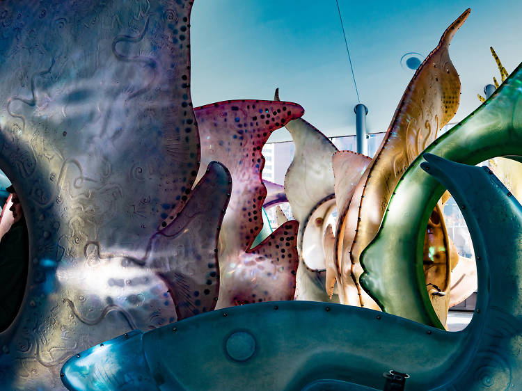 Take a spin (or five) on Battery's SeaGlass Carousel