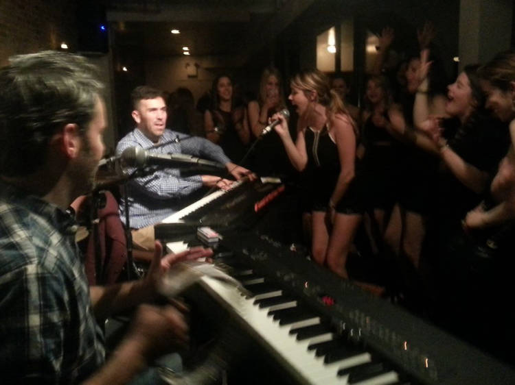 Break a sweat (and into song) at Shake Rattle & Roll Dueling Pianos