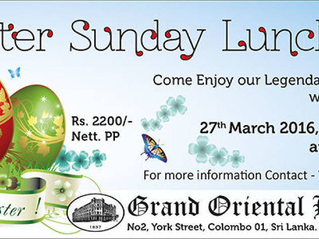 Easter Sunday lunch buffet at the Harbour Room