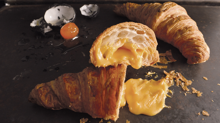 Salted yolk lava croissant
