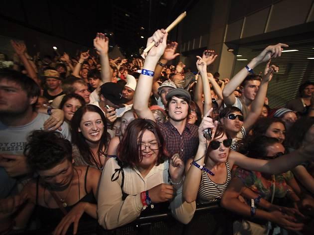 Laneway Festival crowd in Sydney