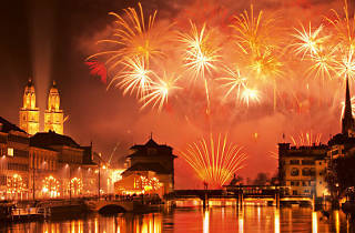 The Swiss National Day firework displays