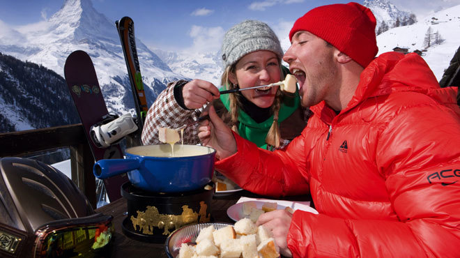 Fondue in the Alps