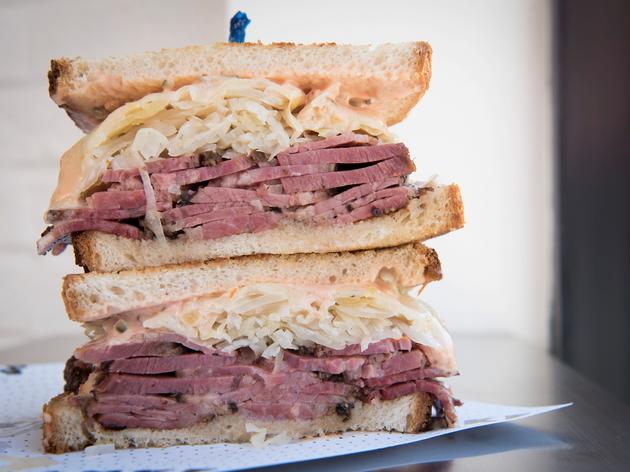 Pastrami reuben sandwich at Frankel's Delicatessen & Appetizing