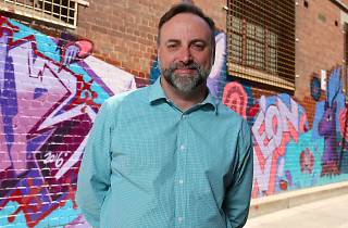 Cameron McDonald, mayor of Maribyrnong, in Footscray