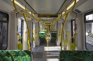 E-class tram interior