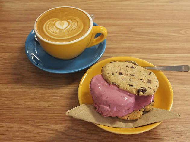 Ice Dreams Cafe ice cream sandwich