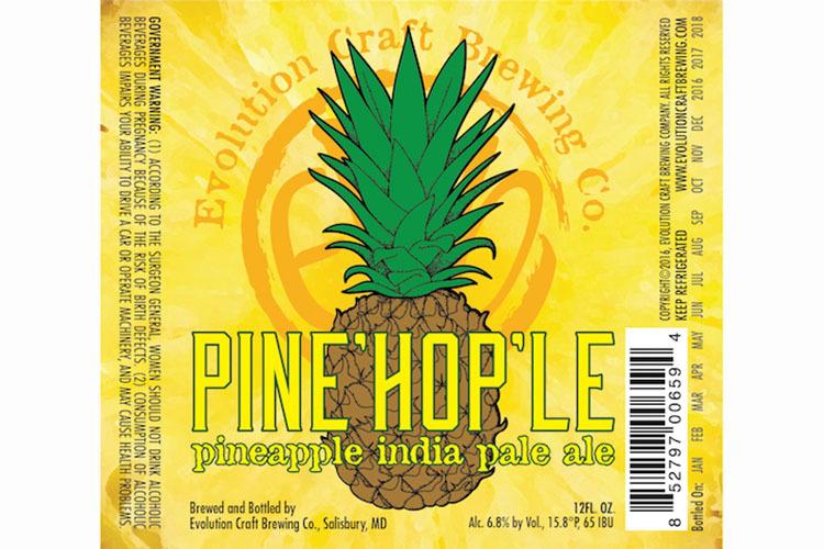 Pine'hop'le, Evolution Craft Brewing Company, Salisbury, MD