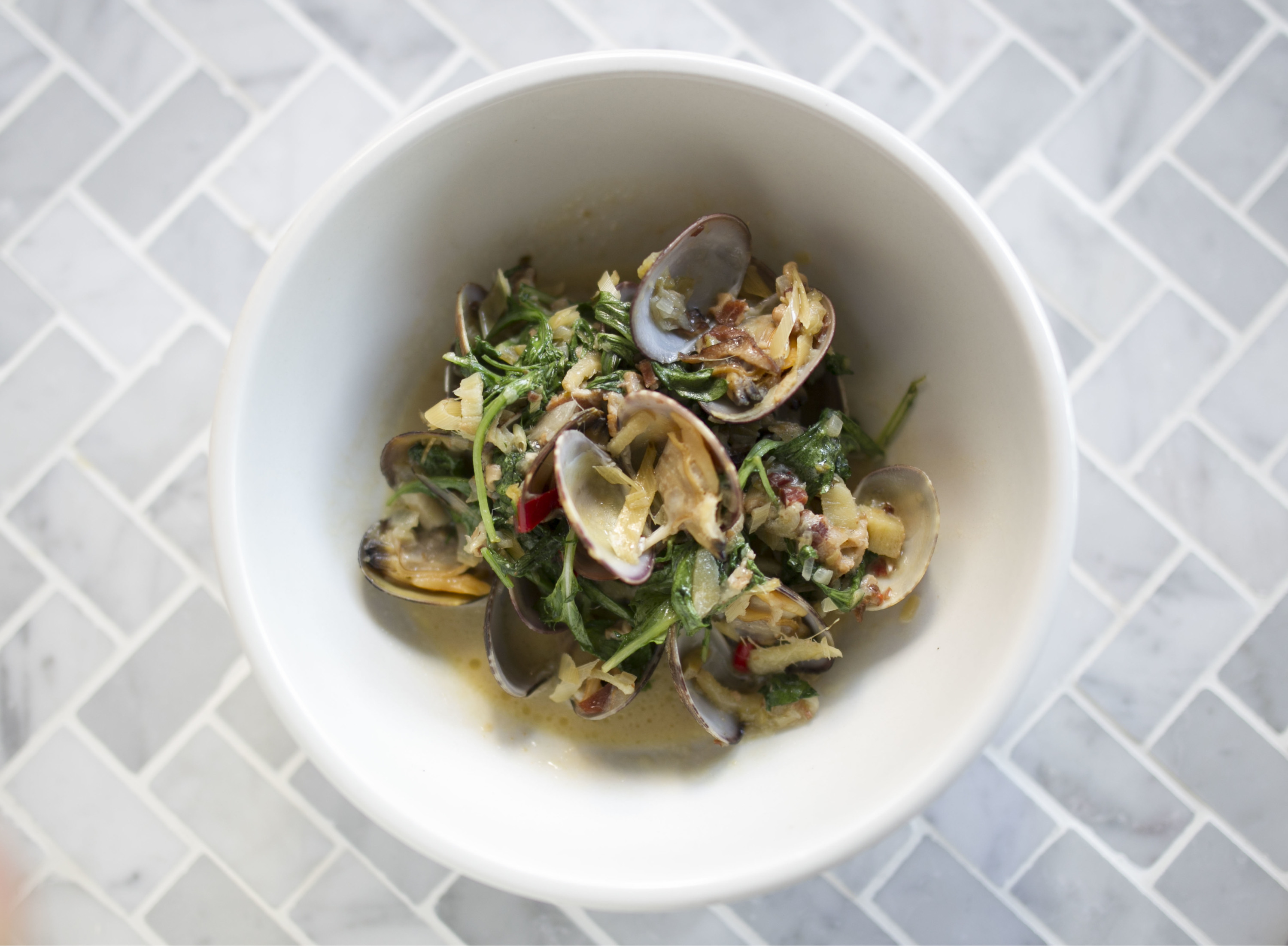 Steamed clams at Rider
