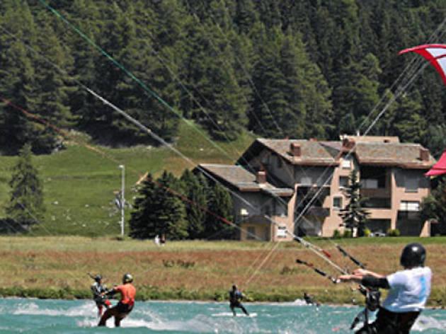 Kite surfing Lake Silvaplana
