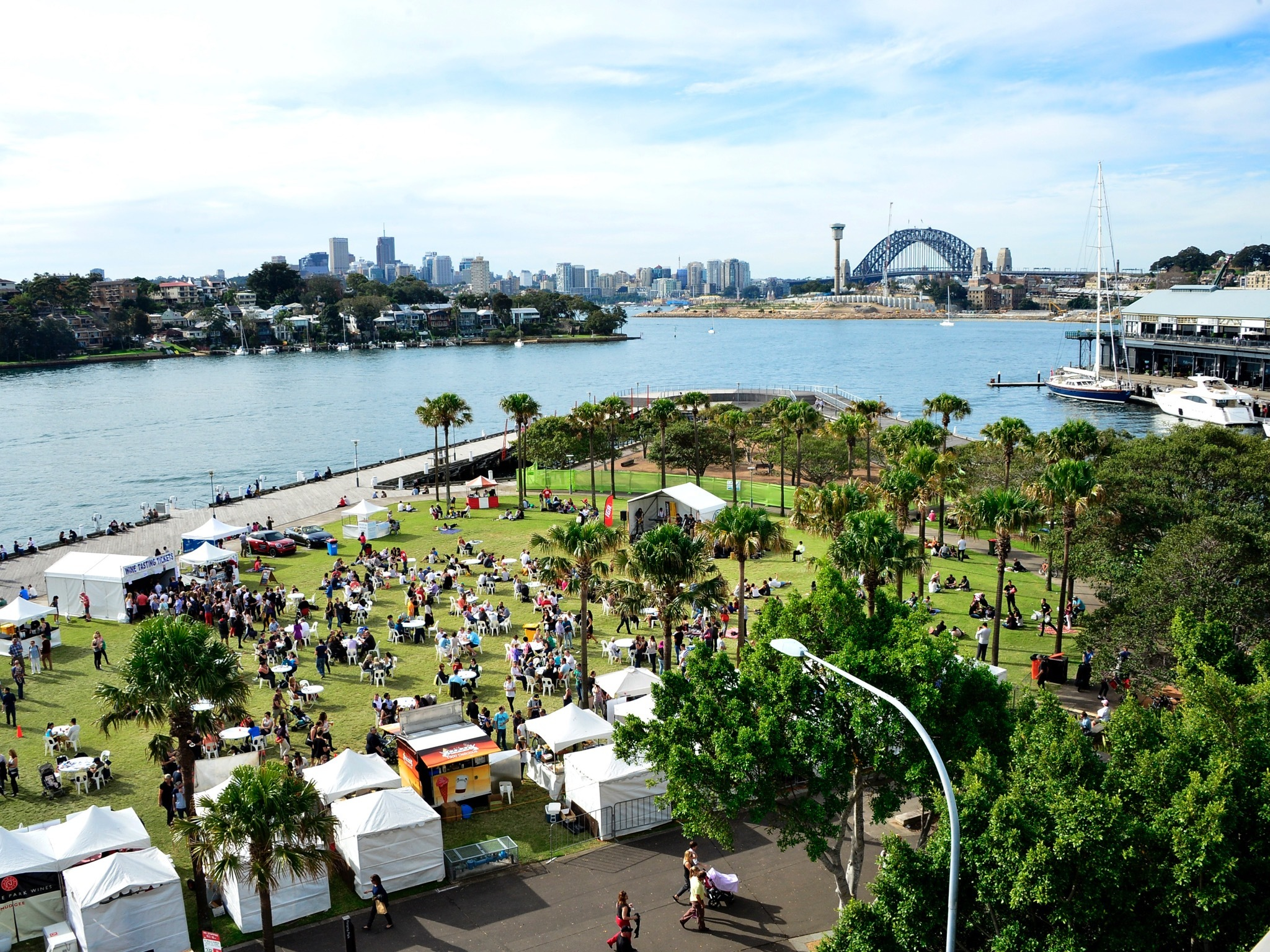 Aerial view of Pirrama Park in Pyrmont