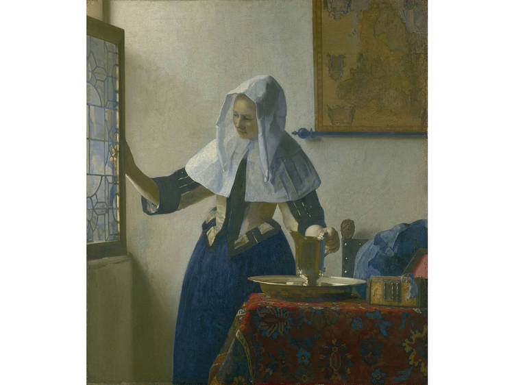 Johannes Vermeer, Young Woman with a Water Pitcher, 1662