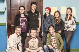 The cast of Tympanic Theatre Company's Paper City Phoenix