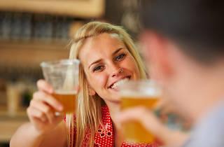 Beer drinking girl