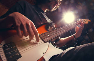 Baix, música, músic