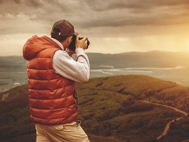 Fotografia, fotògraf, posta de sol