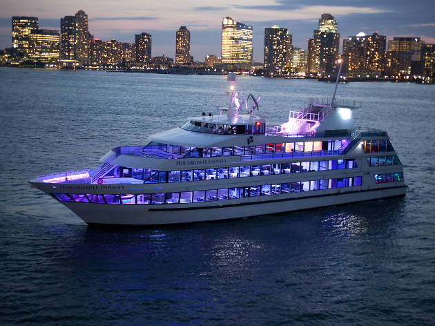 The Hornblower Infinity on the waters around Manhattan.