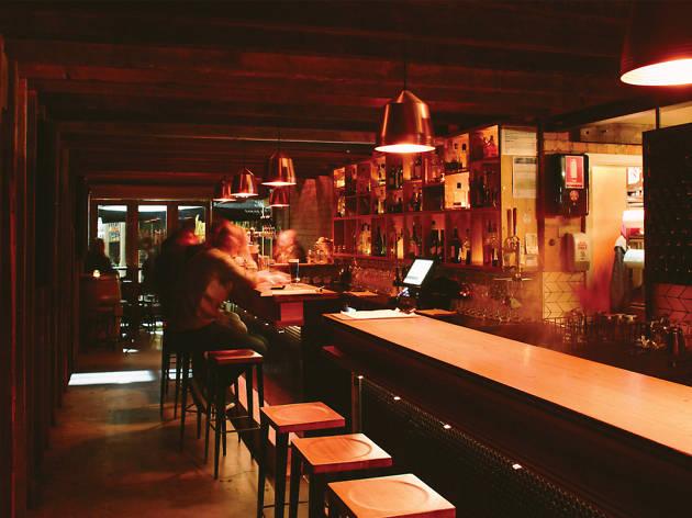 Bar area at Udaberri