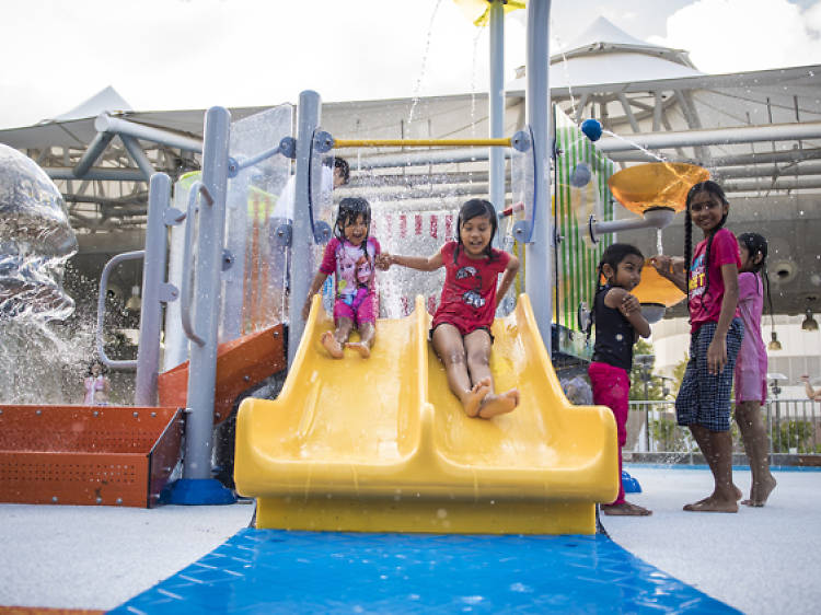 Outdoor Wet Playground at IMM