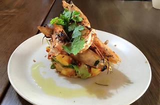 Prawn dish at Queen Street Café