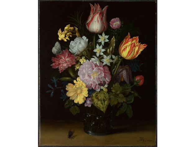 (Ambrosius Bosschaert the Elder: 'Flowers in a Glass Vase', 1614. © The National Gallery, London)