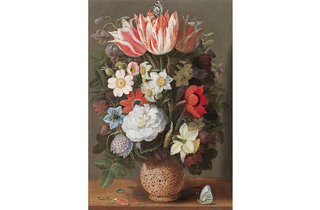(Osaias Beert the Elder: 'Flowers in a Serpentine Vase', about 1615. © Private Collection)