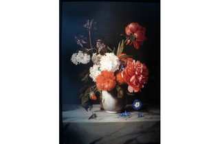 (Dirck de Bray: 'Flowers in a White Stone Vase', 1671. © Private Collection )