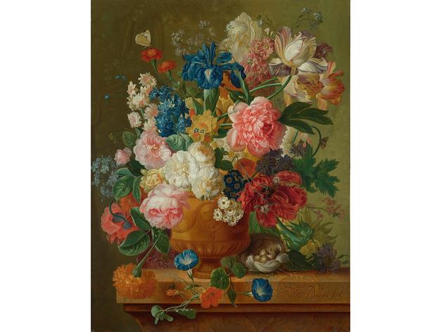 Paulus Theodorus van Brussel (Paulus Theodorus van Brussel: 'Flowers in a Vase', 1789. © The National Gallery, London)