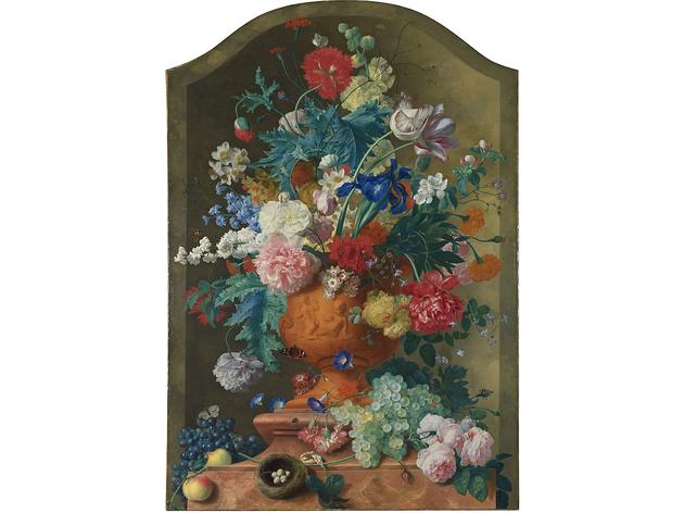 (Jan van Huysum: 'Flowers in a Terracotta Vase', 1736. ©The National Gallery, London)