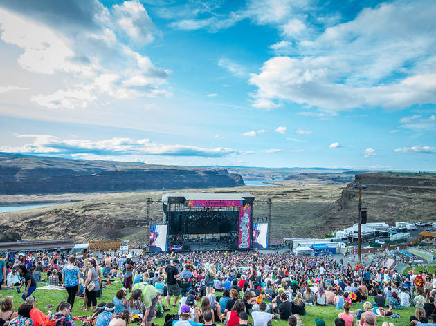 The Naked and Famous performs at Sasquatch! Music Festival 2014