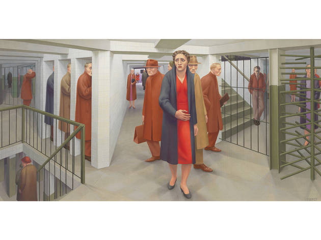 George Tooker, The Subway, 1950