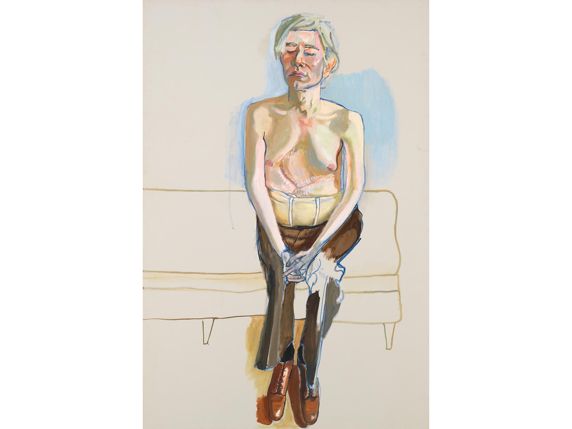 Alice Neel, Andy Warhol, 1970