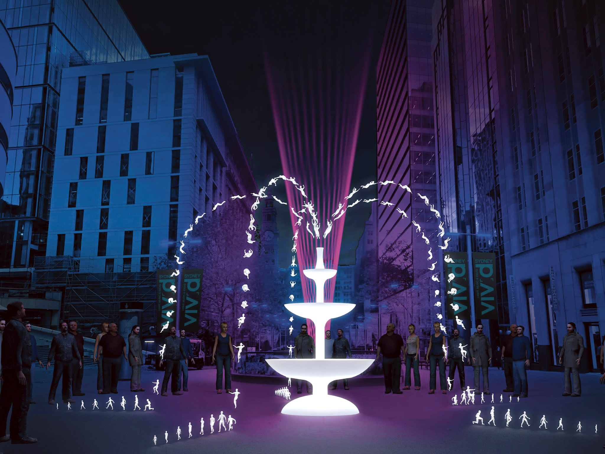 Artist impression of light artwork