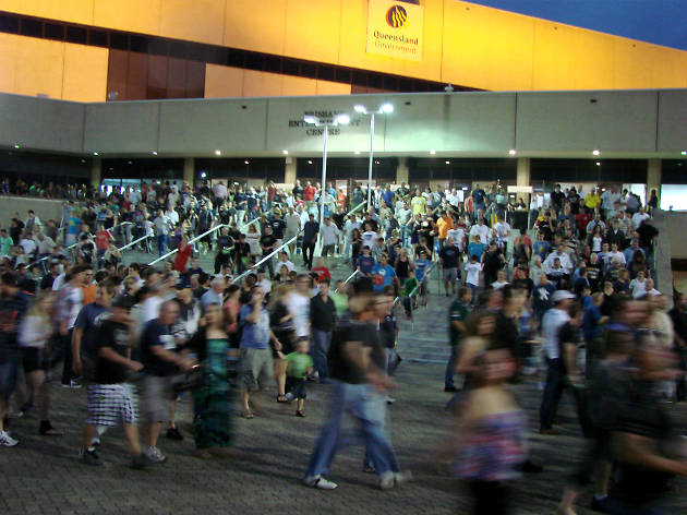 Crowds at Brisbane Entertainment Centre