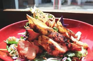 White Taro chicken salad