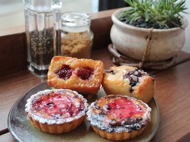 White Taro pastries